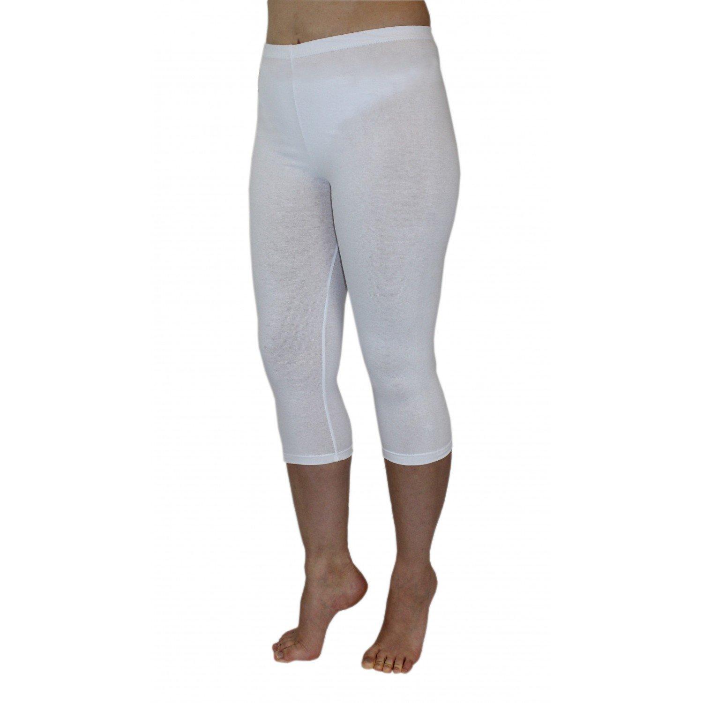 Blickdichte Leggings f/ür Damen Capri Hose Leggins Bunt aus Baumwolle 3//4 L/änge