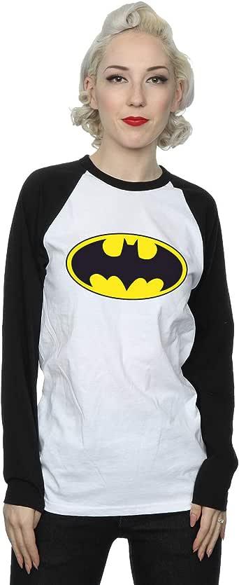 DC Comics mujer Batman Logo Camisa de manga larga de béisbol: Amazon.es: Ropa y accesorios