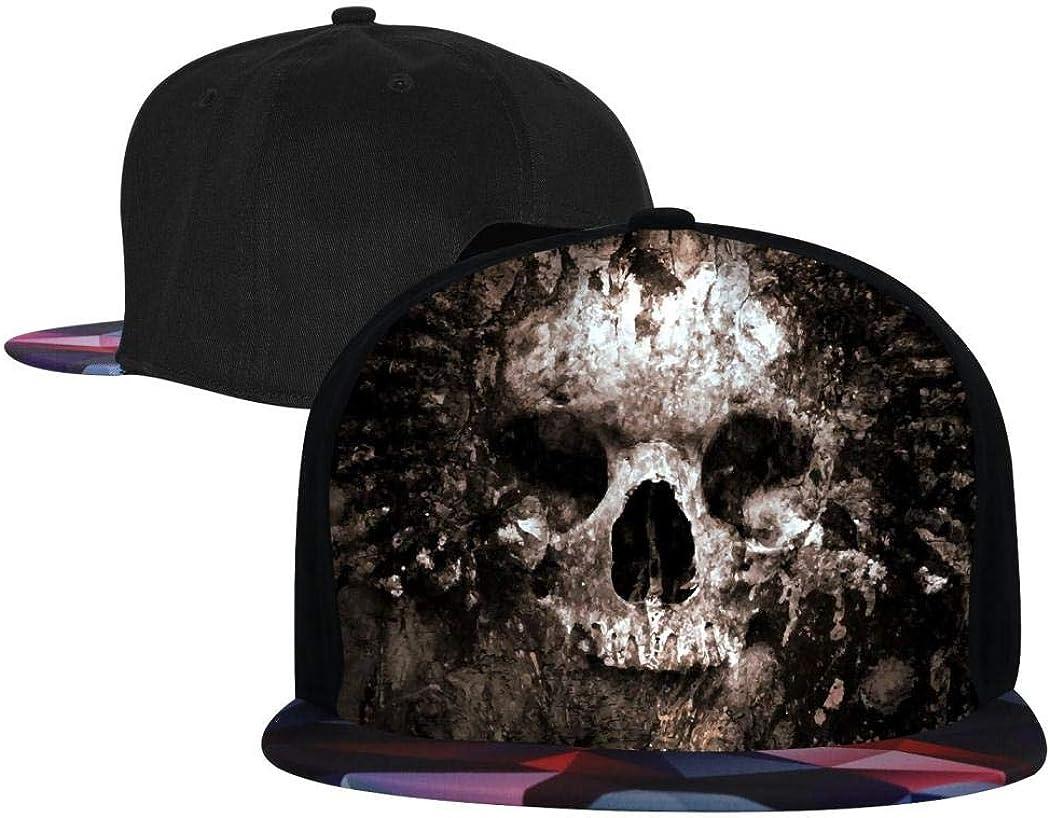 Snapback Caps for Youth Adjustable Fashion Baseball Cap for Men//Women Red Flat Brim Hat Kicher Skull Hip Hop Cap