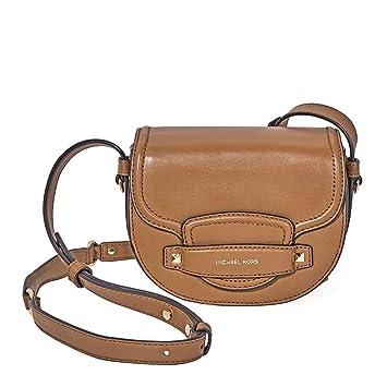 1ef55980d247 Michael Kors Cary Small Leather Saddle Bag- Acorn  Handbags  Amazon.com