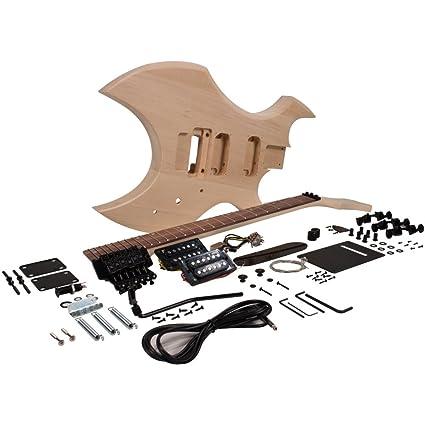 Seismic Audio – sadiyg-16 – PREMIUM Warlock estilo DIY – Kit de guitarra eléctrica