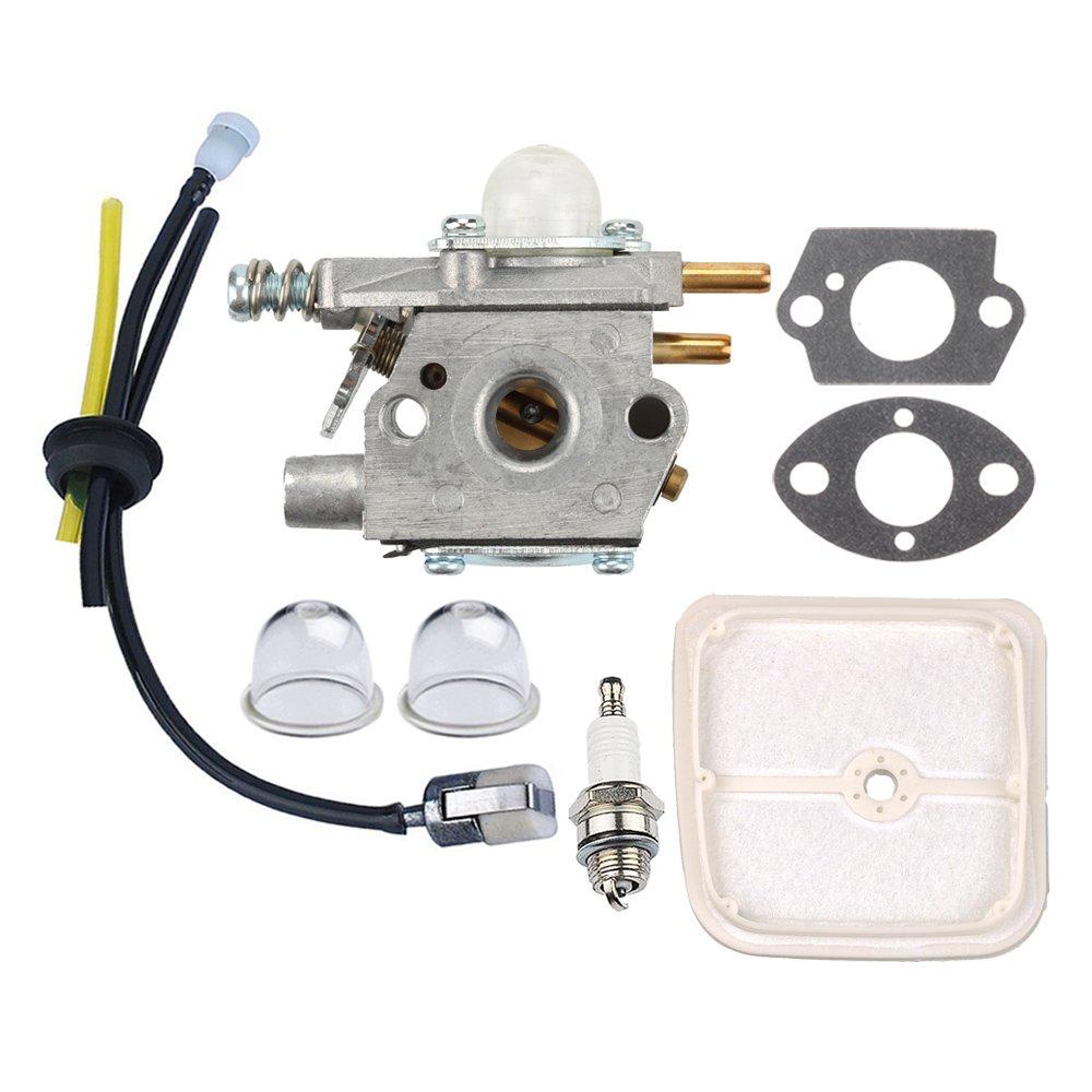 Panari Carburetor + Tune Up Kit Air Filter for ECHO SRM2450 SRM-2450 String Trimmer SRS2400 SRS-2400 Pole Saw