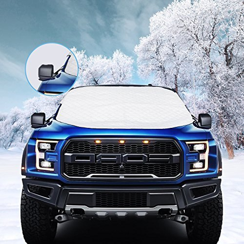 VIVVAUTO Car Windshield Snow Cover. Waterproof, Soft Scratch-Free, Ice Removal Padded Liner. Most...