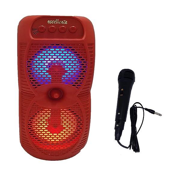 KayJoy Bluetooth Tower Party Speaker Red Portable Karoke MIC