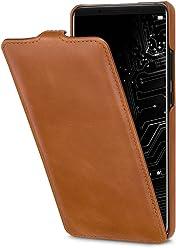StilGut UltraSlim Case, custodia per Huawei Mate 10 Pro flip case custodia verticale in vera pelle pregiata