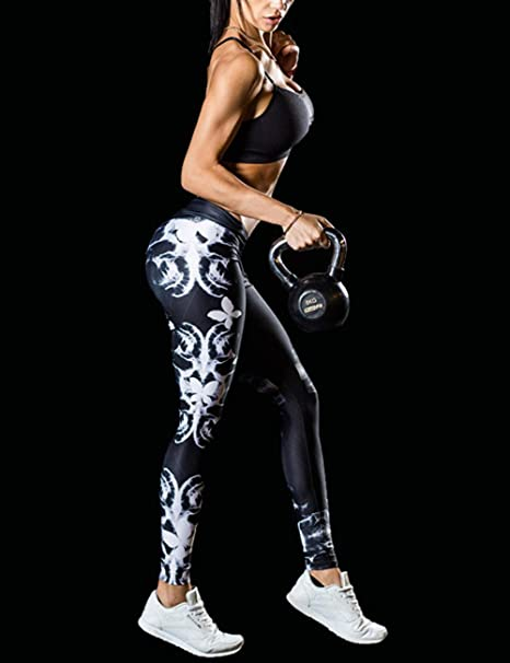 cb92b3e8ee108a Amazon.com: DrKr High Waist Yoga Pants Tummy Control Workout Leggings for  Women: Clothing
