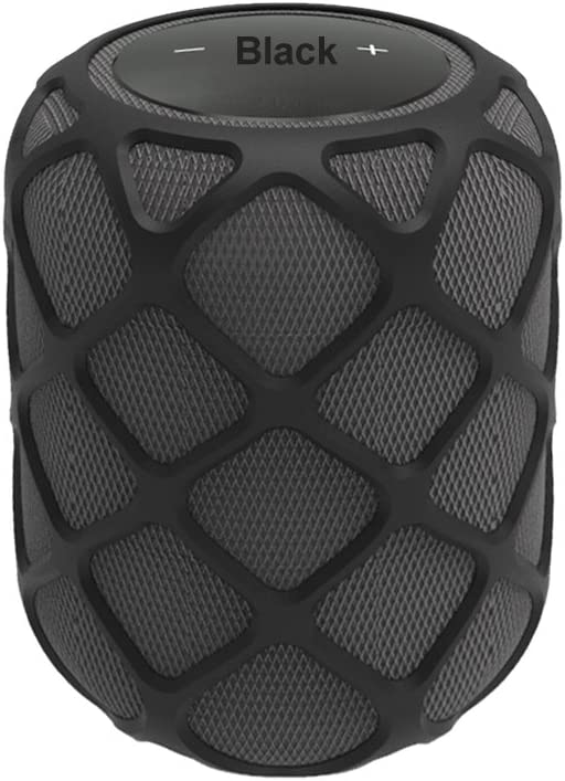 TenCloud Anti-Slip Silicone Case for HomePod,Decor&Protector Cover Portable Sleeve Compatible with Apple HomePod Siri Smart Speaker,Smooth Mesh Holes Allow Fidelity Sound from HomePod (Black)