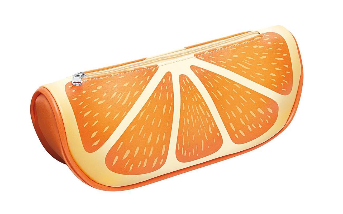 Rei/ßverschluss 23,5 x 6,2 x 9,6 cm gr/ün//orange Kunstleder Wedo 2426539904 M/äppchen Fr/üchte-Design Motiv Kiwi