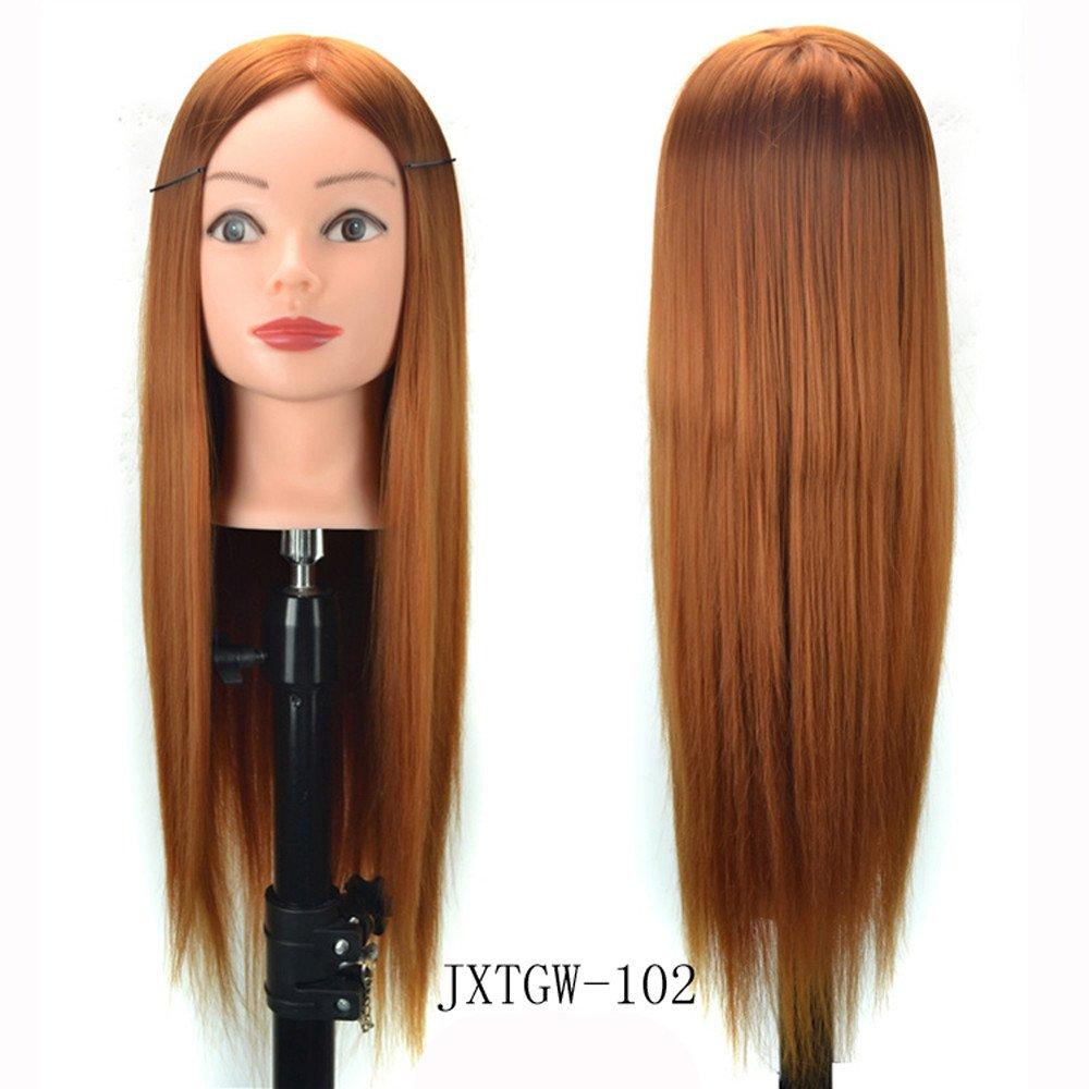 Parrucca, OHQ MODA Parrucche Lunga Stile di capelli Parrucca Pratica Training Testa Mannequin Parrucchiere