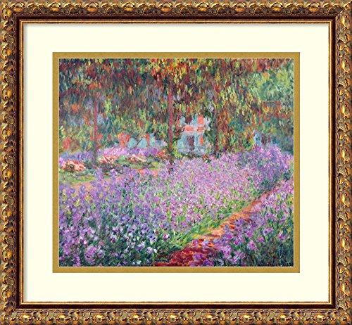 Framed Wall Art Print | Home Wall Decor Art Prints | The Artist's Garden at Giverny, 1900 by Claude Monet | Traditional Decor from Amanti Art