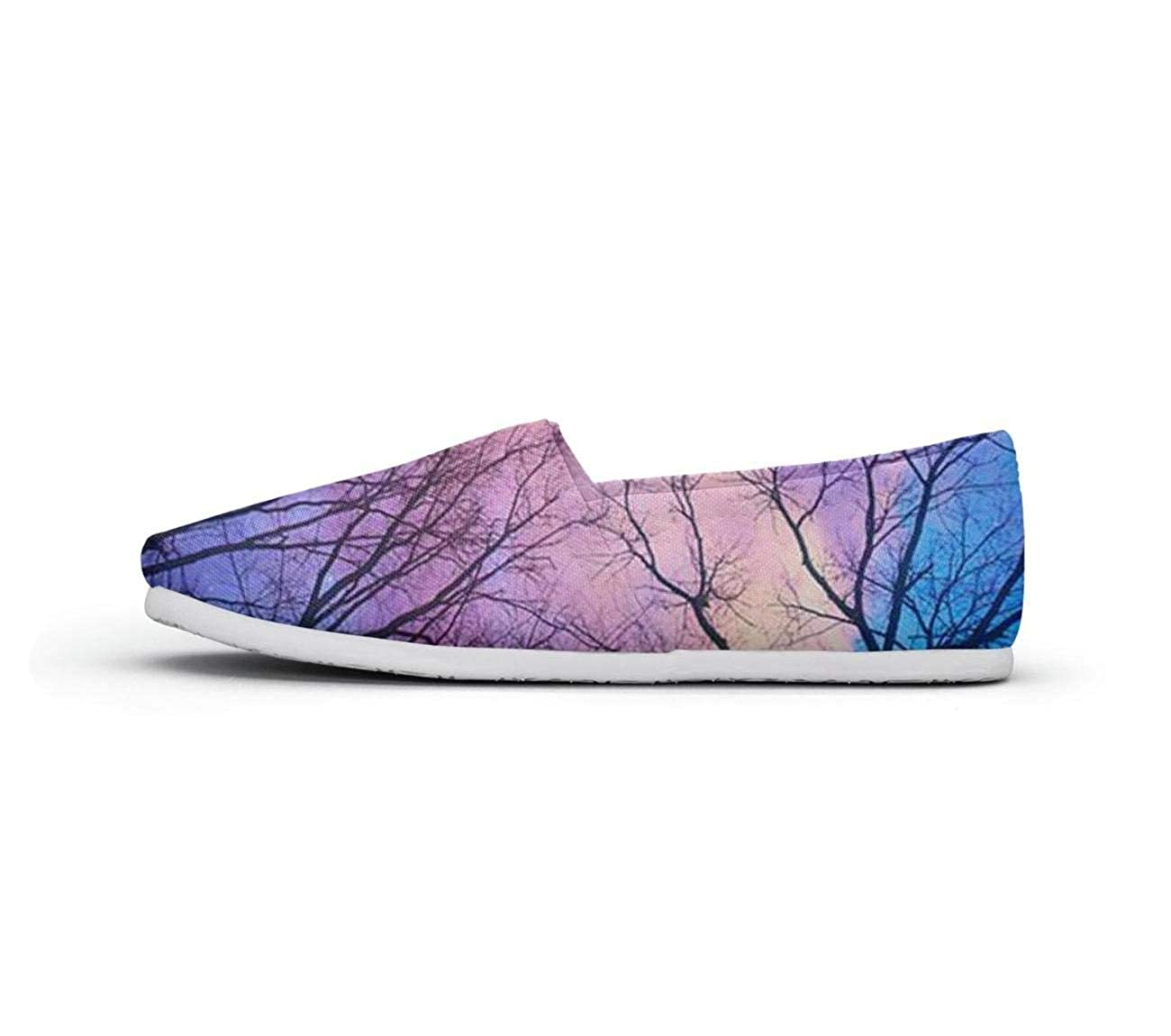 nkfbx Sunset Eagle in Mystic Forest Fashion Flat Trainers for Girls Dancing