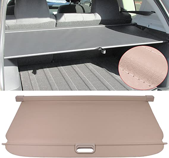 Automotive Rear Deck Covers Cargo Cover Fits 2007 2017 Jeep Compass Patrior 2008 2009 2010 2011 2012 2013 2014 2015 2016 Black Pu Tonneau Cover Retractable By Ikon Motorsports