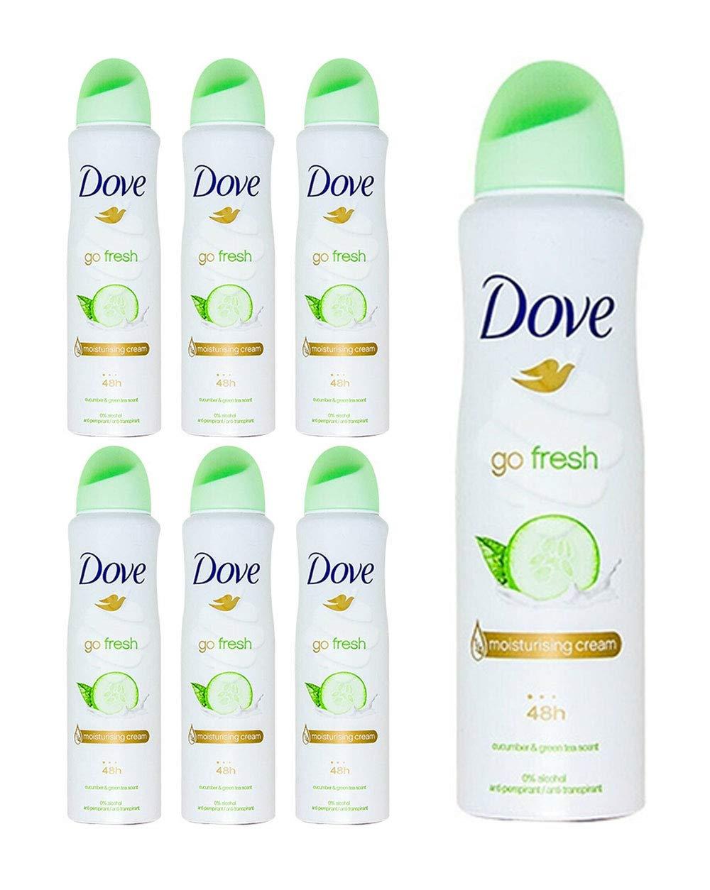 Dove Antiperspirant Deodorant Spray Moisturizing Cucumber & Green Tea 5oz, 10ct