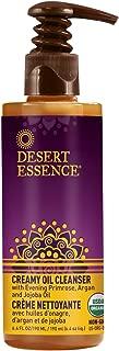 product image for Desert Essence Creamy Oil Cleanser - 6.4 Fl Oz - Pure Oil Based Cleanser - Evening Primrose - Argan - Jojoba Oil - For All Skin Types - Removes Makeup & Impurities - Aloe Vera - Nourishes Skin