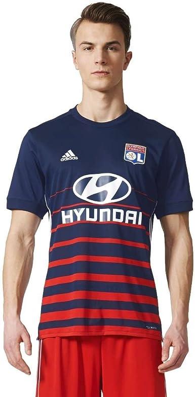 adidas 2nd Kit Olympique de Lyon 2017-2018 A JSY Y Camiseta, Hombre: Amazon.es: Ropa y accesorios