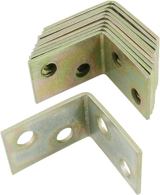 Escuadras de /ángulo 10 piezas 25x25x16mm 90 grados de /ángulo recto de metal soporte del estante Sourcingmap a12092800ux0196