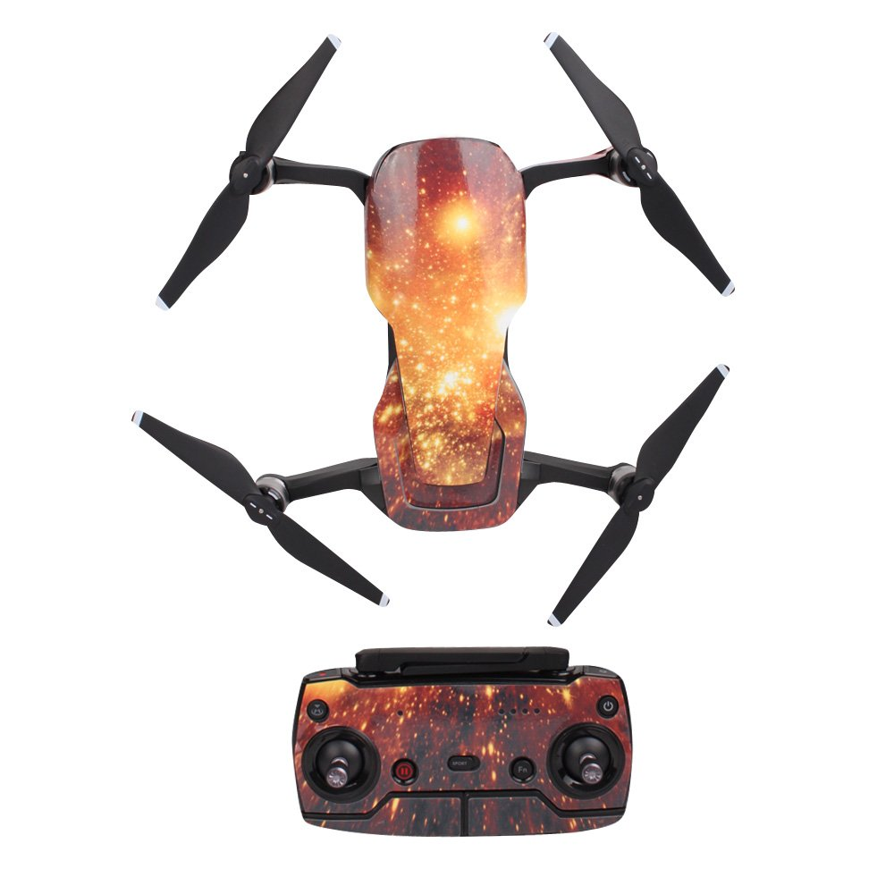 Carbon Black Waterproof PVC Stickers For DJI MAVIC Mini Drone RC Decal Skin HI