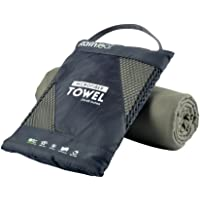 RainLeaf Microfiber Towel. Perfect Sports & Travel &Beach Towel. Fast Drying - Super Absorbent - Ultra Compact. Suitable for Camping, Gym, Beach, Swimming, Backpacking.