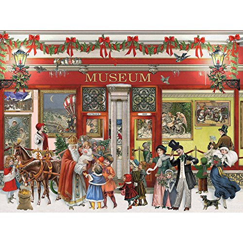 Bits and Pieces - 300 Piece Jigsaw Puzzle for Adults - Christmas Museum 300 - 300 pc Jigsaw by Artist Barbara Behr