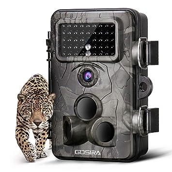 Gosira Cámara de Caza Vigilancia 12MP 1080P Impermeable IP66 PIR Sensor de Movimiento 120° Tres