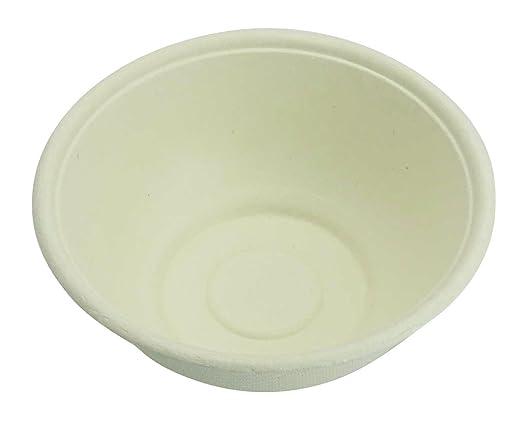 Ecoware redondo parte desechables bagazo cuenco microondas (caña ...