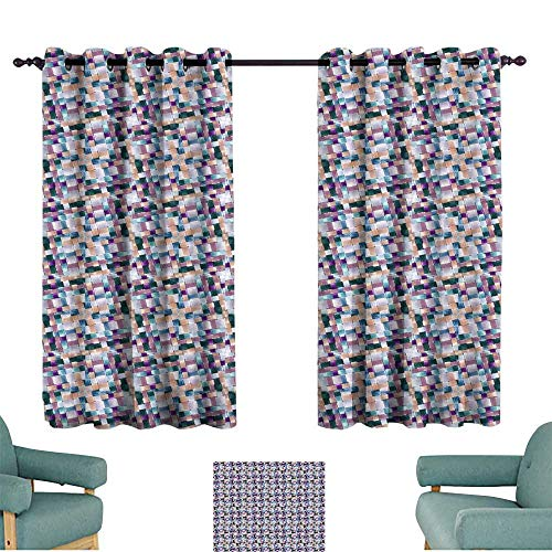 Warm Family Bedroom Windproof Curtain Seamless Wallpaper Pattern Set of Two Panels