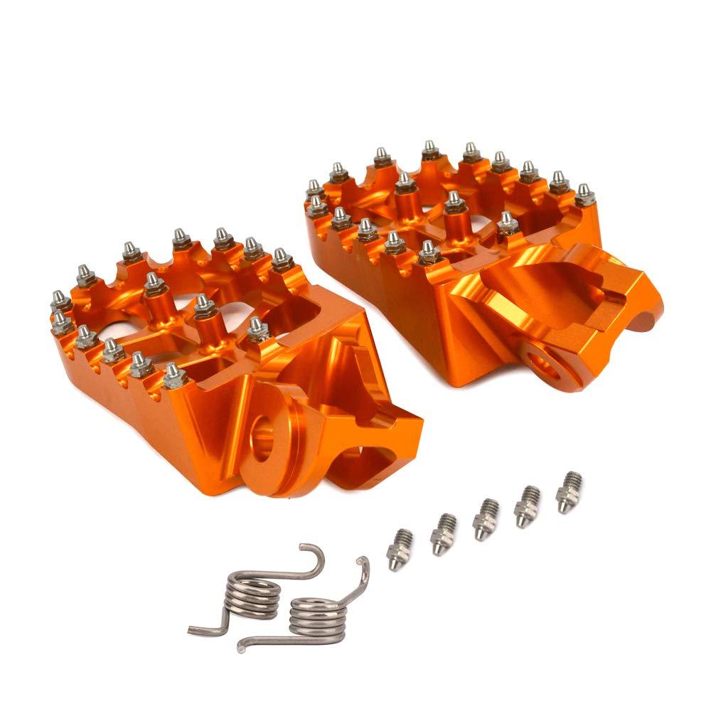 Motorcycle Foot Pegs Foot Pedal Footpegs CNC Fit For KTM 65SX 85SX 125SX/250SX 125-530EXC//EXC-F/150-300XC//250XC-F/350-450XC-F/200-530XC-W//XCF-W/FREERIDE 250R//350 950SUPER ENDURO 990ADVENTURE