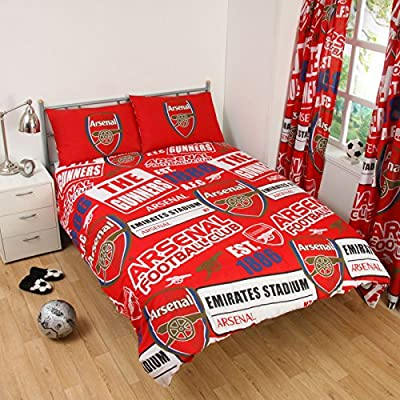 Arsenal FC Patch UK Double/US Full Duvet Cover and Pillowcase Set
