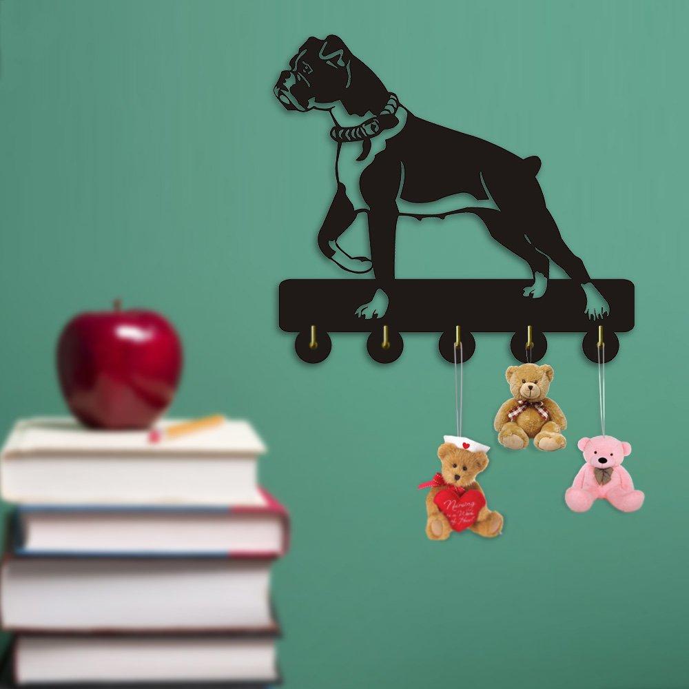 Lovely Boxer Dog Design Bathroom Living Room Decor Wall Hook Animals Coat Bags Clothes Coat Hook Keys Holder Towel Hook Dog Lover Gift