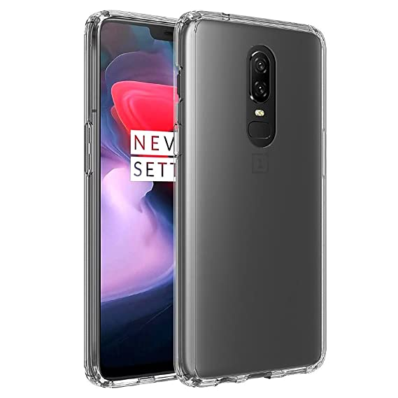 size 40 b06b9 7363f Olixar OnePlus 6 Bumper Case - Hard Tough Cover ExoShield - Shock  Protection - Slim Design - Clear
