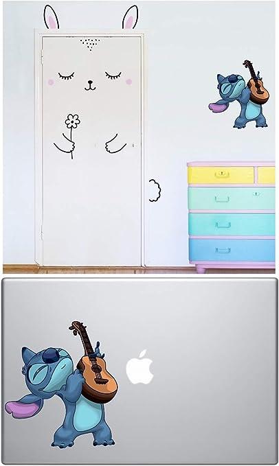 A B Traders Lilo And Stitch Aufkleber Stitch Guitar Tanzende Macbook Aufkleber Für Autos Laptops Wanddekoration Küche Haushalt