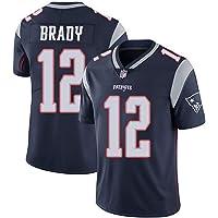 WFGY Jerseys -Tom Brady Nº 12 Patriotas De Nueva Inglaterra De Rugby Americano Jersey, Bordado De Tela, Bordado…