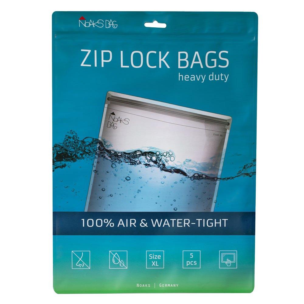 Noaks Bag XL | 5 exemplaires | Sac Étanche – Dry Bag – Poche Imperméable | 100% Imperméable à 10 m - Étanche à l'Air - Étanche aux Odeurs | Très grande taille NOAPY 60.01.041