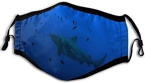 Shark Fashion Ear Hook Ventilation Dust Mask Breathing Full Mask Dust And Pollen Proof