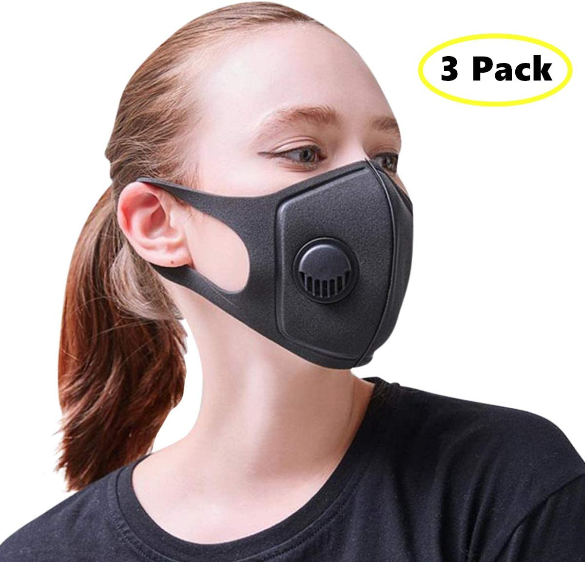 Face Best com Respirator Amazon With Pollution Mask Pack 3 Air
