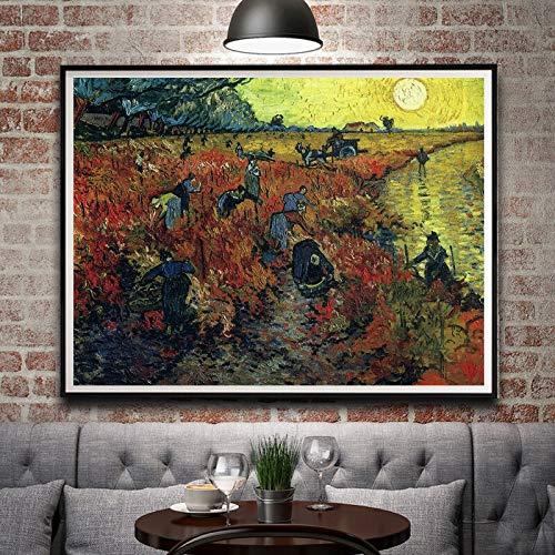 N / A Pintura sin Marco Arte clasico poster de Seda decoracion del hogar Pintura al oleo 42X56cm