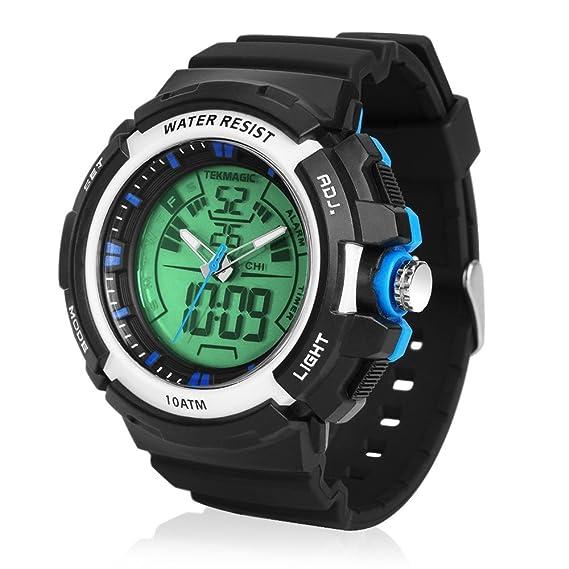 TEKMAGIC 10 ATM Reloj Deportivo Natacion Sumergible 100 Metros Resistente al Agua Reloj Running Digital de Pulsera: Amazon.es: Relojes