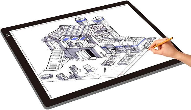 Mesa de Luz de Dibujo A2 Super Size Caja de luz LED de localización Brillante con función de Brillo Ajustable con un Cable USB para Artistas, Dibujo, bocetos, animación: Amazon.es: Hogar