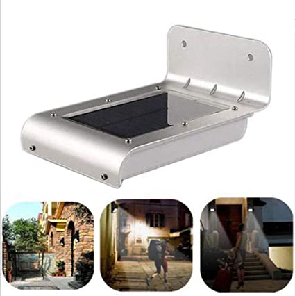 Solar Energy Lights Outdoor 16-LED Powered Motion Sensor Wall Lights IPX65 Waterproof Exterior Wireless