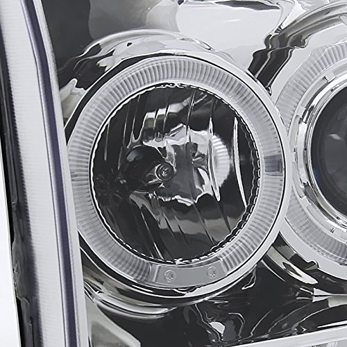 Spec-D Tuning 2LHP-F25099-TM Ford F250 F350 Led Chrome Clear Projector Halo Head Lights by Spec-D Tuning (Image #6)