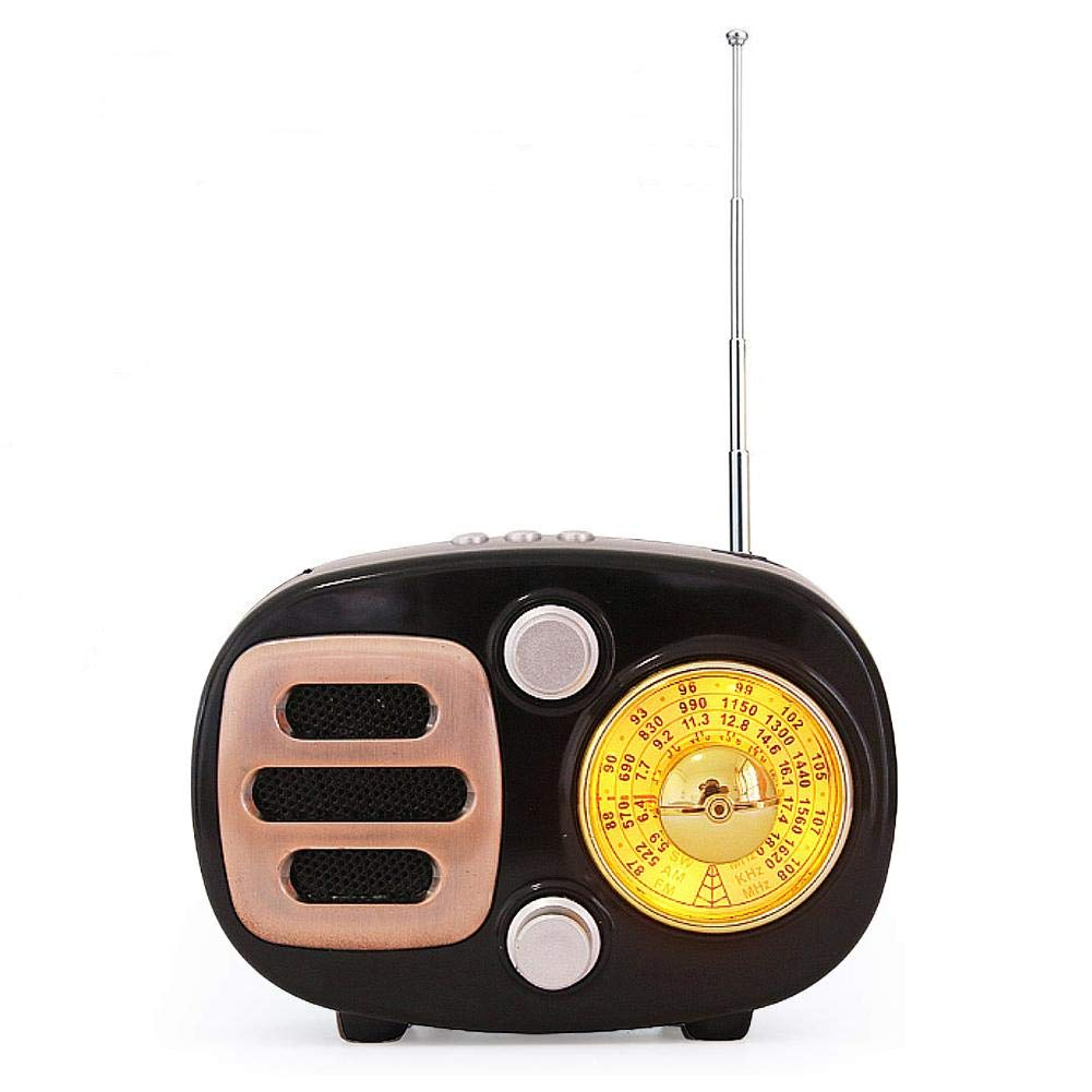 sweet dream Vintage Radio, Retro Bluetooth Speaker, Multi-Function FM Radio, AM FM SW Shortwave Bluetooth Radio Support TF Card MP3 Player, Strong Bass Enhancement