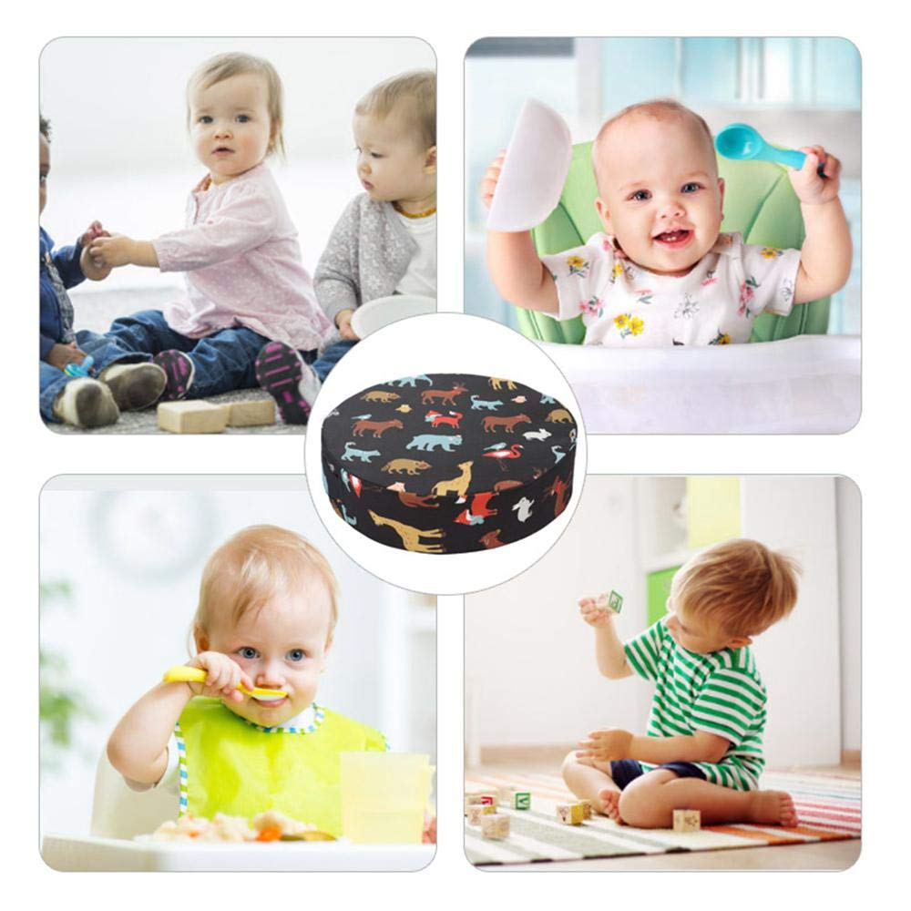 Baby Chair Cushion High Chair Travel Dining Seat Pad for Children Kids Toddlers Boys Girls Ceepko Booster Seat Cotton Linen Washable Thick Demountable Portable Increasing Anti-Slip Cushion