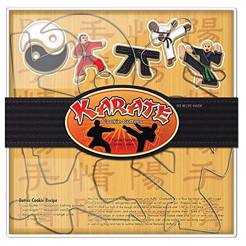 Fox Run Brands 36034 Karate Cookie Cutter Set, Silver