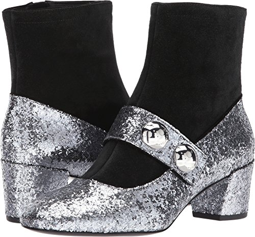 Marc Jacobs Women's Margaux Cabochon Ankle Boot, Antique Silver, 38 M EU (8 - Marc Jacobs Boots