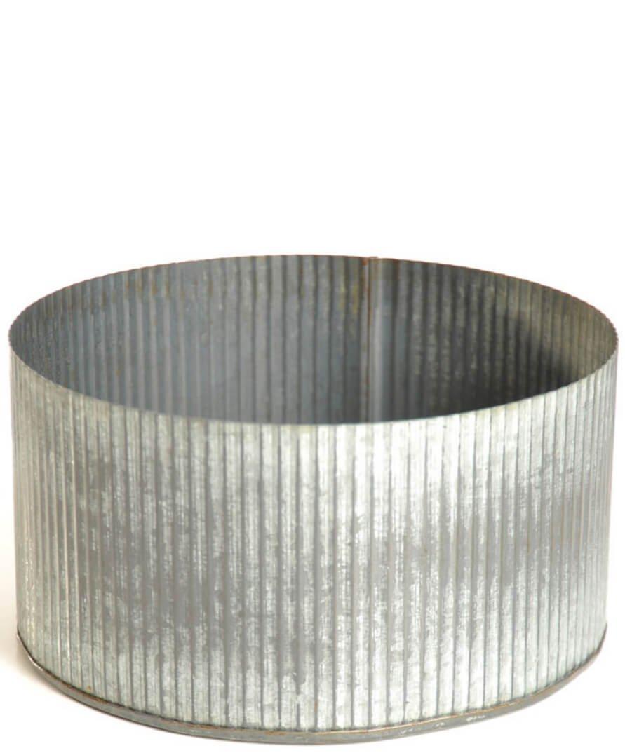 Dexon Power Corrugated Zinc Pot 7.5''x 4'' Norah Bowl