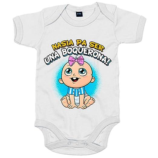 Body bebé nacida para ser una Boquerona Málaga fútbol - Azul Royal, 6-12 meses: Amazon.es: Bebé