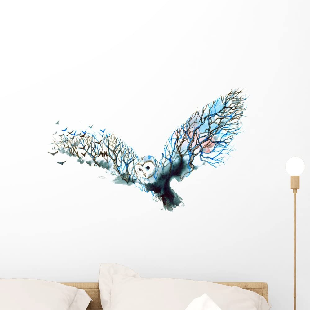 Wallmonkeys Owl Wall Decal Peel and Stick Graphic WM359224 (24 in W x 17 in H)