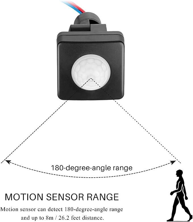 Sensor de movimiento PIR interruptor Sunsbell PIR Infrarrojos ...