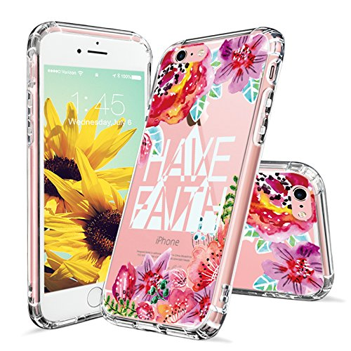 iPhone MOSNOVO Floral Transparent Crystal