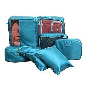 FunYoung - Organizador para maletas Mujer Niños unisex Hombre, Blau-02 (azul) - QJT-L: Amazon.es: Equipaje